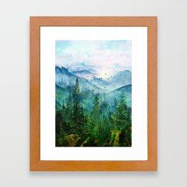 Spring Mountainscape Framed Art Print