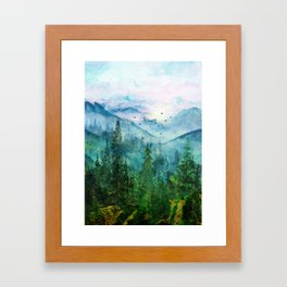 Spring Mountainscape Framed Art Print