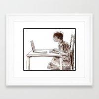 gamer Framed Art Prints featuring Gamer by Jonas Ericson