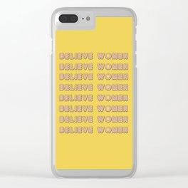 believe women Clear iPhone Case