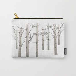 Birch Tree Forest White Bark Aspens Winter Carry-All Pouch