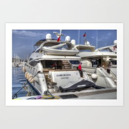Sunseeker 78 Yacht Art Print