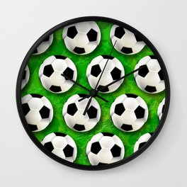 Soccer Ball Football Pattern Wall Clock