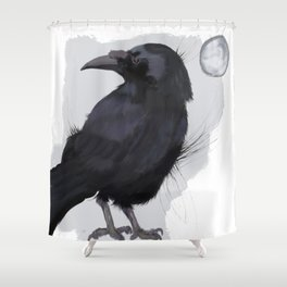 A Raven, Nothing More Shower Curtain
