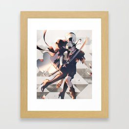 flowers for m[A]chines Framed Art Print