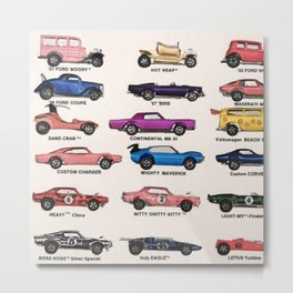 1969 Vintage Hot Wheels Redline Dealer's Store Display Poster Metal Print