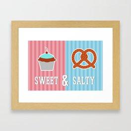Sweet and Salty Framed Art Print