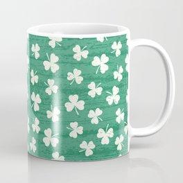 DANCING SHAMROCKS on green Coffee Mug