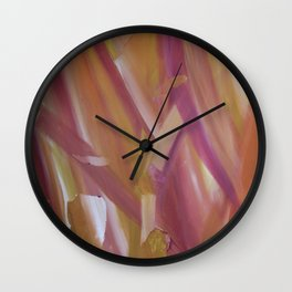 Red coloured abstract acrylic painting Wall Clock