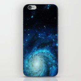 Teal Pinwheel Galaxy iPhone Skin