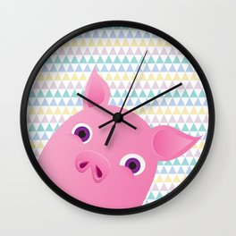 Sweet Piggy Wall Clock