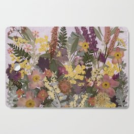 Pressed Flower English Garden Cutting Board