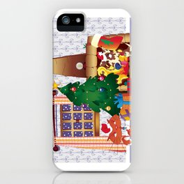 Merry Christmas Cat and Dog iPhone Case
