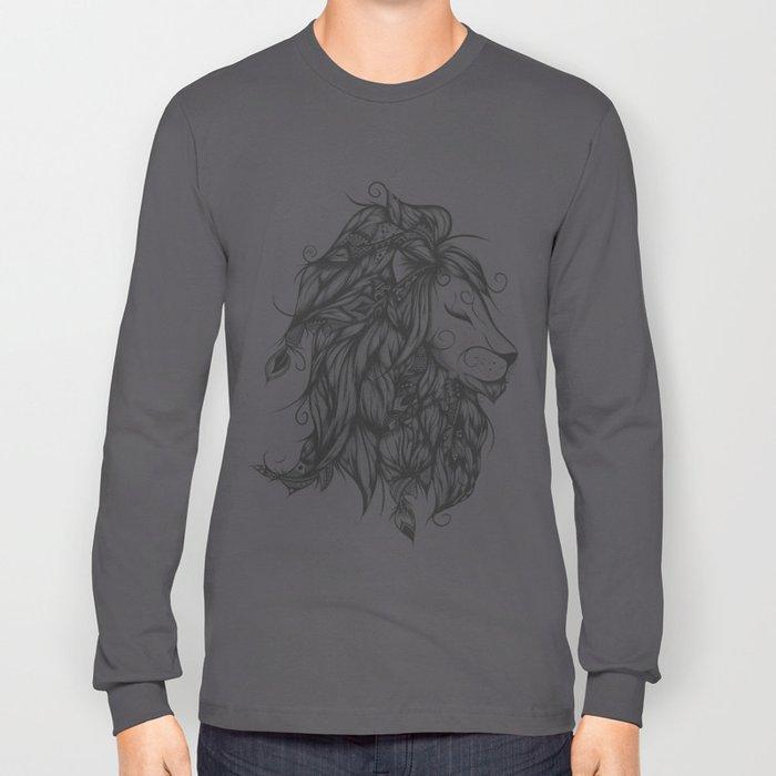 Poetic Lion B&W Long Sleeve T-shirt