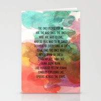 kerouac Stationery Cards featuring Kerouac Watercolour: by NomadicArt