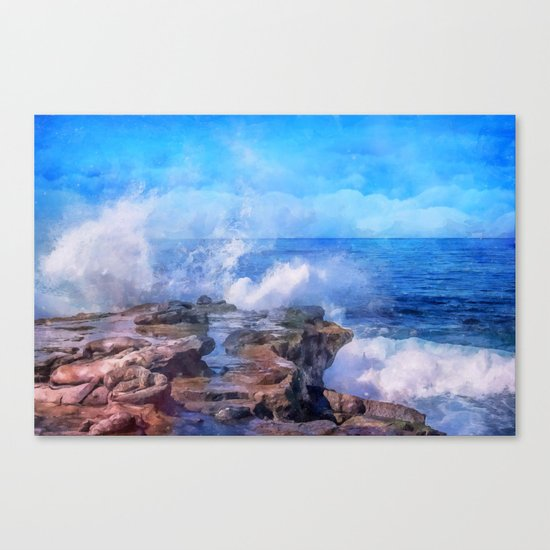 Pacific surf in California Canvas Print