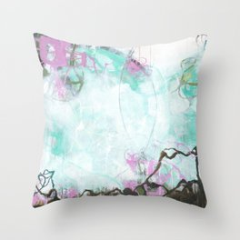 Crossroads - Square Abstract Expressionism Throw Pillow