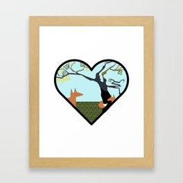 Forest Foxes. Framed Art Print