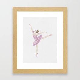 Sugar Plumb Ballerina Framed Art Print