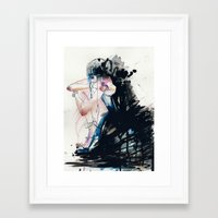 fear Framed Art Prints featuring Fear by Holly Sharpe