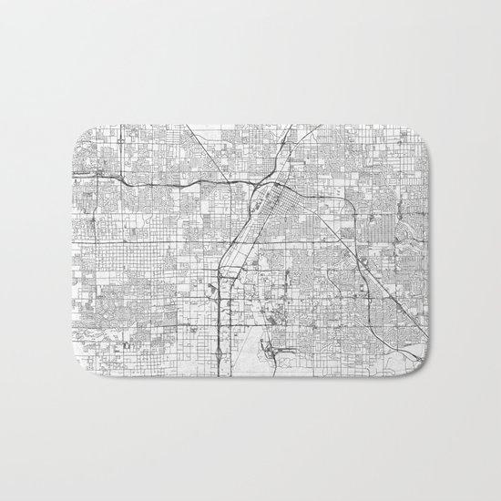 Las Vegas Map Line Bath Mat