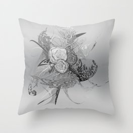 50 Shades of lace Silver Silver Throw Pillow