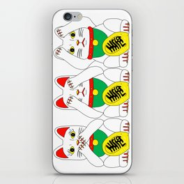 Three Wise Lucky Cats iPhone Skin