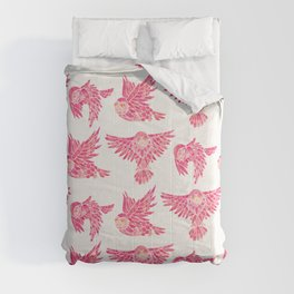 Owls in Flight – Pink Palette Comforters