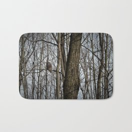 Barred Owl in the Woods by Reay of Light Bath Mat