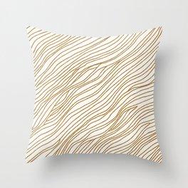 Metallic Wood Grain Throw Pillow