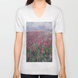 Flower Fields Unisex V-Neck