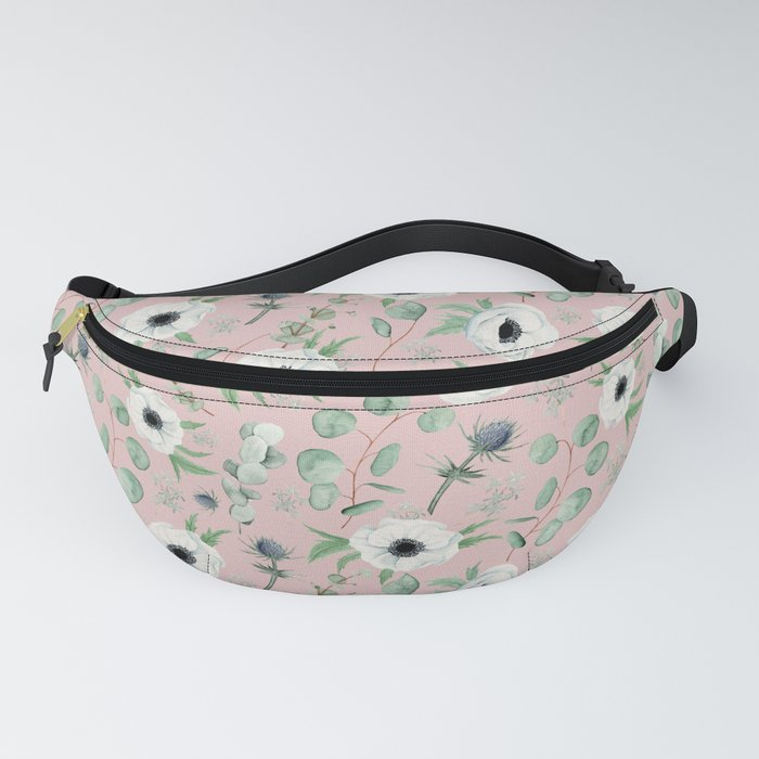 Pink Anemone Pattern Fanny Pack