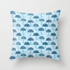 rain #1 Throw Pillow