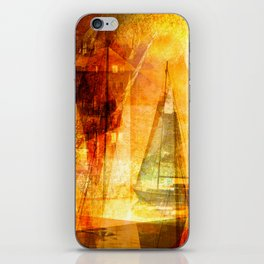 Coming home to harbour iPhone Skin