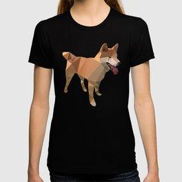 Triangular shiba inu T-shirt