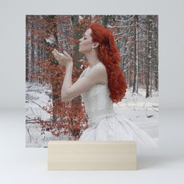 Lady Winter Mini Art Print