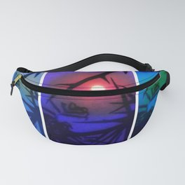 Moon and Locust Tree Collage Fanny Pack