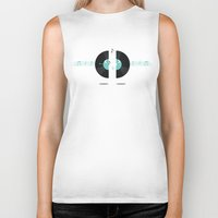 records Biker Tanks featuring Talking Records by Ornaart