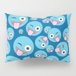 Crazy Wink and Sticking Tongue Out Pillow Sham