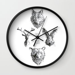 Forest Gods Wall Clock