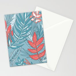Colorful Leaves Pattern Stationery Cards