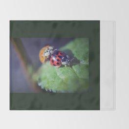 Lady Bug Love Throw Blanket