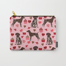 German Shorthair Pointer dog breed valentines day dog art custom gifts for dog lover unique breeds Carry-All Pouch