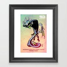 Roswell gang - RazorWing Alpha a.k.a. Puppet Master - Villains of G universe Framed Art Print