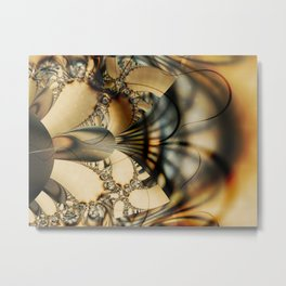 Stained Glass Explosion Metal Print