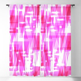 Delicate crystal pink stripes of luminous triangles and ellipse. Blackout Curtain