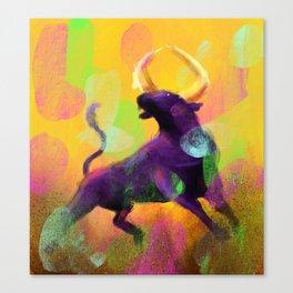 Ragging Bull Canvas Print