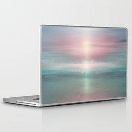 """Pink sky over blue sea Sunset"" Laptop & iPad Skin"