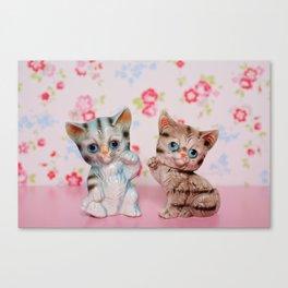 Hello kitties Canvas Print