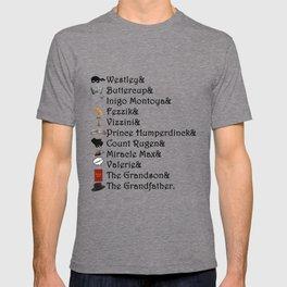Princess Bride Names T-shirt